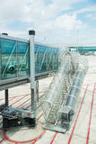 Modern glass airport ramp Royalty Free Stock Image