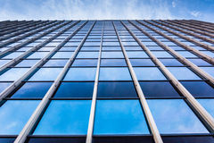 Modern glass architectural details in Harrisburg, Pennsylvania. Royalty Free Stock Image