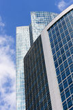 Modern glass architecture. Modern glass architecture, perspective view from below Stock Photos
