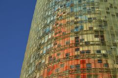 Modern glass architecture detail Barcelona Spain stock photos