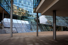 Modern glass architecture of a office building Stock Images