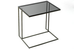 Modern glass black table isolated on white background. Stock Photography