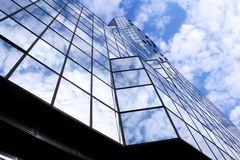 Modern Glass Blue City Skyscraper Stock Images
