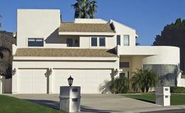 Modern glass brick home. Located in Arizona Royalty Free Stock Photos