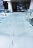 Modern glass bridge Royalty Free Stock Photos