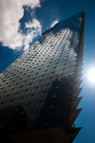 Modern Glass Building. Looking up at a tall glass building Royalty Free Stock Photos