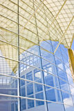 Modern Glass Building. Abstract patterns formed by reflections of modern architecture stock image