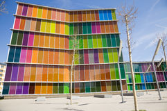 Modern glass building stock photography