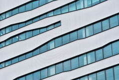 Modern glass building detail. Detail of a modern office glass building Royalty Free Stock Photos