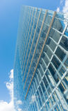 Modern glass building in Duesseldorf Germany skyscraper blue sky. Modern glass building skyscraper blue sky editorial Royalty Free Stock Images