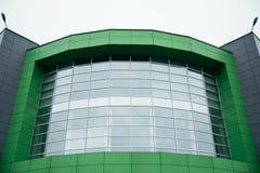 Building entrance, modern mall. Modern glass building entrance, modern mall center Royalty Free Stock Photography