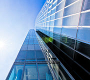 Modern glass building exterior Stock Image