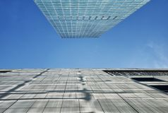 Modern Glass building exteriors Shenzhen China royalty free stock photos