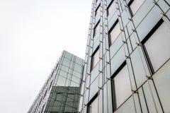 Modern glass building facade. Modern gray glass building facade Royalty Free Stock Photography