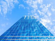 Modern Glass Building Reflecting Blue Sky Stock Photos