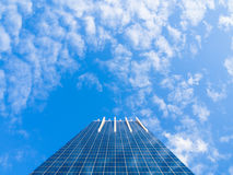 Modern Glass Building Reflecting Blue Sky Stock Images