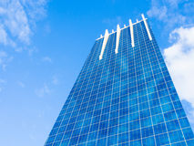 Modern Glass Building Reflecting Blue Sky Royalty Free Stock Photo