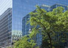 Modern glass building reflection Ottawa Stock Images