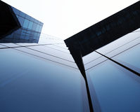 Modern glass building rising to the sky Stock Images