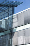 Modern glass building, toned image Royalty Free Stock Photos