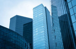 Modern glass buildings. Royalty Free Stock Images