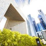 Modern glass buildings at La Defense district, Paris Stock Photography