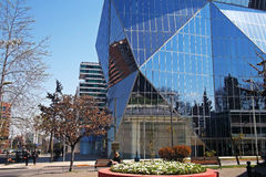 Modern glass buildings in Santiago, Chile Royalty Free Stock Images