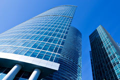 Modern glass business center Stock Image