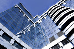 Modern glass business center Stock Images