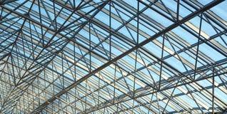 Modern glass ceiling. In trade center Stock Photos