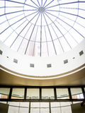 Modern Glass Ceiling Architecture in Mall Stock Image