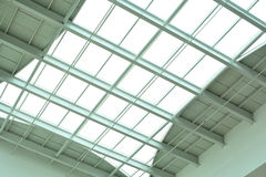 Modern glass ceiling of office center Stock Photo
