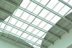 Modern glass ceiling of office center Stock Photo