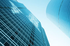 Modern glass constructions Royalty Free Stock Image