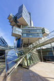 Modern Architecture at Hannover, Germany. Modern glass cube building at the city of Hannover, Germany Stock Photos