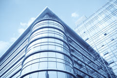 Modern glass curtain wall building Royalty Free Stock Image