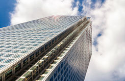 Modern glass exterior of corporate office buildings shot from a. Low angle Stock Image