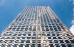 Modern glass exterior of corporate office buildings shot from a. Low angle Royalty Free Stock Photography