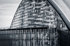 A modern glass facade (black and white) Stock Photography