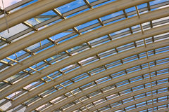 Modern glass greenhouse roof Stock Photography