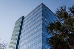 Modern Glass Highrise NBSC Columbia South Carolina Arkivbilder