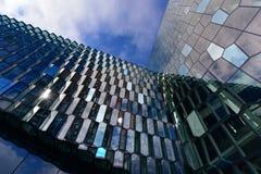Modern glass honeycomb glass facade Stock Images