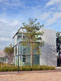Modern glass house in Amsterdam Royalty Free Stock Image