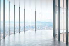 Modern glass korridor Royaltyfria Bilder