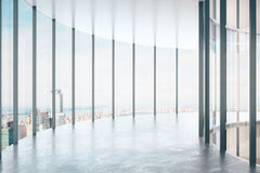 Modern glass korridor Royaltyfria Foton
