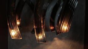 Modern glass ljuskrona