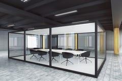 Modern glass mötesrum royaltyfri illustrationer