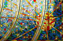 Modern Glass Mosaic Stock Images