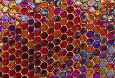 Modern glass mosaic tiles background Stock Photo