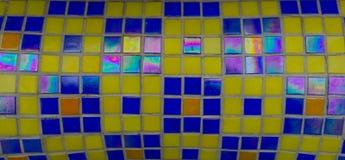 Modern glass mosaic tiles background Stock Photos